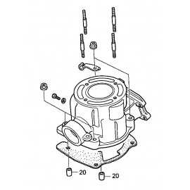 Styrstift cylinder Honda CR85 9430110160